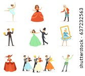 classic theater and artistic... | Shutterstock .eps vector #637232563