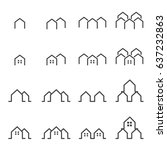 house line icon silhouette... | Shutterstock .eps vector #637232863