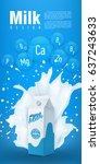 milk flyer design vector... | Shutterstock .eps vector #637243633