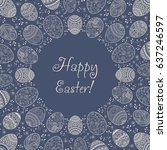 invitation happy easter... | Shutterstock .eps vector #637246597