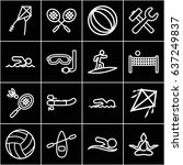 activity icons set. set of 16... | Shutterstock .eps vector #637249837