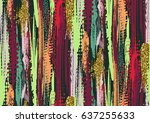vector seamless pattern with... | Shutterstock .eps vector #637255633