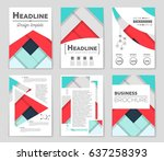 abstract vector layout... | Shutterstock .eps vector #637258393
