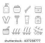 vector icons set of tools for... | Shutterstock .eps vector #637258777
