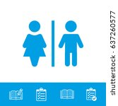 man and woman toilet vector icon | Shutterstock .eps vector #637260577