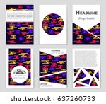 abstract vector layout... | Shutterstock .eps vector #637260733