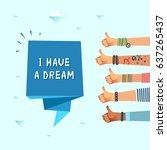 millennials dream concept.... | Shutterstock .eps vector #637265437