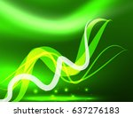 glowing shiny wave background ... | Shutterstock .eps vector #637276183