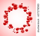 Round Abstract Background With...
