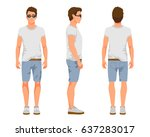 vector illustration of three... | Shutterstock .eps vector #637283017