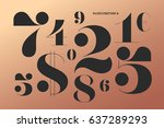 font of numbers in classical... | Shutterstock .eps vector #637289293