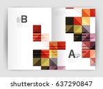 square annual report brochure...   Shutterstock .eps vector #637290847