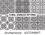seamless pattern tile with... | Shutterstock .eps vector #637294897