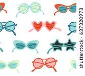 sunglasses retro illustration... | Shutterstock .eps vector #637320973