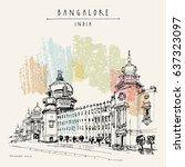 bangalore  karnataka  india.... | Shutterstock .eps vector #637323097