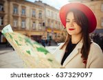 portrait of positively a... | Shutterstock . vector #637329097