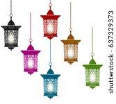 ramadan kareem. six multi...   Shutterstock . vector #637329373