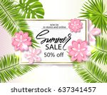 summer sale banner  poster with ...   Shutterstock .eps vector #637341457