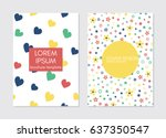collection of creative... | Shutterstock .eps vector #637350547