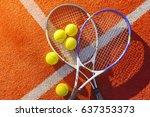 tennis. | Shutterstock . vector #637353373