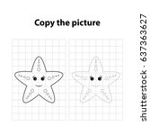 starfish  copy the picture ... | Shutterstock .eps vector #637363627