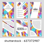 abstract vector layout... | Shutterstock .eps vector #637372987