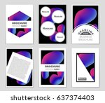 abstract vector layout... | Shutterstock .eps vector #637374403