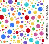 seamless pattern color balls... | Shutterstock .eps vector #637385227