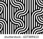 geometric seamless pattern.... | Shutterstock .eps vector #637389613