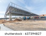 an unfinished building at the... | Shutterstock . vector #637394827
