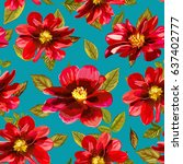 abstract seamless pattern with... | Shutterstock .eps vector #637402777