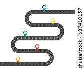 simple winding road with...   Shutterstock . vector #637410157