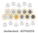 infogaphic timeline diagram.... | Shutterstock . vector #637410253