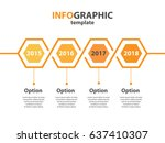 infogaphic timeline diagram.... | Shutterstock . vector #637410307