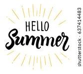 hello summer. creative graphic...   Shutterstock .eps vector #637414483