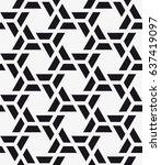 vector seamless pattern. modern ... | Shutterstock .eps vector #637419097
