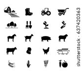 farm icon set | Shutterstock .eps vector #637420363