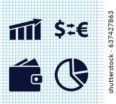 set of 4 economy filled icons...