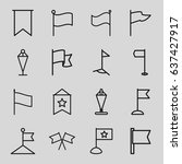 pennant icons set. set of 16... | Shutterstock .eps vector #637427917