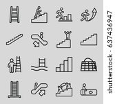 staircase icons set. set of 16...   Shutterstock .eps vector #637436947
