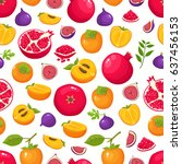 vector seamless pattern with... | Shutterstock .eps vector #637456153