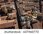 roofs of bologna italy | Shutterstock . vector #637460773
