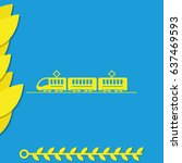 train or tram flat illustration.