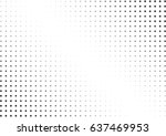 abstract halftone dotted... | Shutterstock .eps vector #637469953