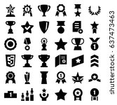 award icons set. set of 36... | Shutterstock .eps vector #637473463