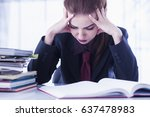 i hate my office work. office... | Shutterstock . vector #637478983
