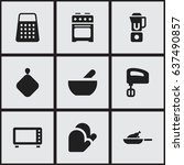 set of 9 editable meal icons....   Shutterstock .eps vector #637490857