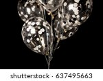 black and white balloons on a... | Shutterstock . vector #637495663