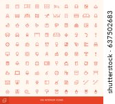 simple line icons for furniture ... | Shutterstock .eps vector #637502683