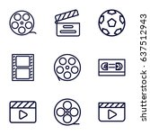 cinematography icons set. set... | Shutterstock .eps vector #637512943